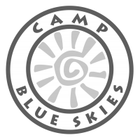 Camp Blue Skies logo.